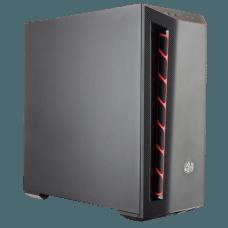 Gabinete Gamer Cooler Master Masterbox MB501L, Mid Tower, Black, Sem Fonte, Com 1 Fan, MCB-B501L-KNNN-S00-RED