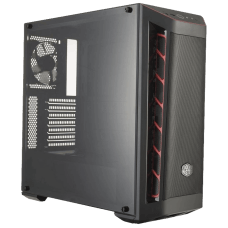 Gabinete Gamer Cooler Master Masterbox MB511, Mid Tower, Black, Sem Fonte, Com 1 Fan, MCB-B511D-KANN-S00-Red