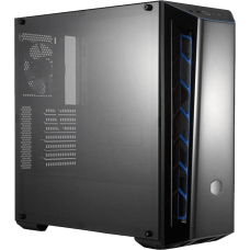 Gabinete Gamer Cooler Master Masterbox MB520, Mid Tower, Com 1 Fan, Black, S-Fonte, MCB-B520-KANN-S03-Blue