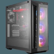 Gabinete Gamer Cooler Master MasterBox MB530P, Mid Tower, Vidro Temperado, Black, Sem Fonte, Com 4 Fans, MCB-B530P-KHNN-S01