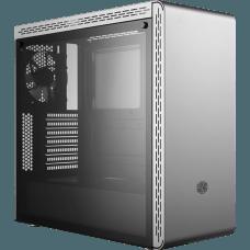 Gabinete Gamer Cooler Master MasterBox MS600, Mid Tower, Com 1 Fan, Vidro Temperado, Silve, S-Fonte, MCB-MS600-SGNN-S00