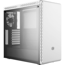 Gabinete Gamer Cooler Master MasterBox MS600, Mid Tower, Com 1 Fan, Vidro Temperado, White, S-Fonte, MCB-MS600-WGNN-S00