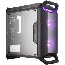 Gabinete Gamer Cooler Master Masterbox Q300P, Mid Tower, Com 3 Fans, Lateral em Acrílico, Black, S-Fonte, MCB-Q300P-KANN-S02