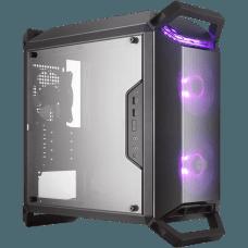 Gabinete Gamer Cooler Master Masterbox Q300P, Mini Tower, Com 3 Fans, Lateral em Acrílico, Black, S-Fonte, MCB-Q300P-KANN-S02
