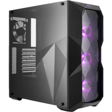 Gabinete Gamer Cooler Master Masterbox TD500 RGB, Mid Tower, Com 4 Fans, Black, S-Fonte, MCB-D500D-KANN-S00