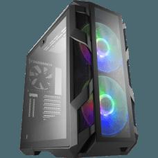 Gabinete Gamer Cooler Master, MasterCase H500M, Mid Tower, Vidro Temperado, Black, Sem Fonte, Com 3 Fans, MCM-H500M-IHNN-S00