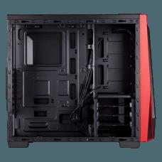 Gabinete Gamer Corsair Carbide SPEC-04, Mid Tower, Com 1 Fan, Lateral em Acrílico, Black-Red, S-Fonte, CC-9011107-WW