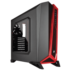 Gabinete Gamer Corsair Carbide Spec Alpha, Mid Tower, Com 3 Fans, Lateral em Acrílico, Black-Red, S-Fonte, CC-9011085-WW