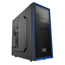 Gabinete Gamer DeepCool Tesseract BF, Mid Tower, Com 1 Fan, Black, S-Fonte, DP-CCATX-TSRBFBK