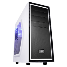 Gabinete Gamer DeepCool Tesseract, Mid Tower, Com 1 Fan, Black-White, S-Fonte, DP-ATX-TSRSWWH