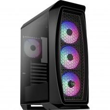 Gabinete Gamer Aerocool Aero One Frost, Mid Tower, Com 4 Fans RGB, Vidro Temperado, Black, S-Fonte