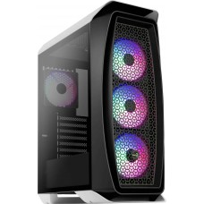 Gabinete Gamer Aerocool Aero One Frost, Mid Tower, Com 4 Fans RGB, Vidro Temperado, White, S-Fonte