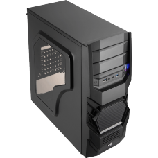 Gabinete Gamer Aerocool Cyclops Black Edition, Mid Tower, Com 1 Fan, Black, S-Fonte, EN52933 - Open Box
