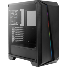 Gabinete Gamer Aerocool Cylon Pro, Mid Tower, Lateral em Acrílico, Black, 68522, Sem Fonte, Com 1 Fan