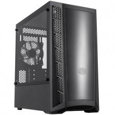 Gabinete Gamer Cooler Master MasterBox MB320L, Mini Tower, Vidro Temperado, Black, Micro ATX, Sem Fonte, Com 1 Fan, MCB-B320L-KGNN-S00
