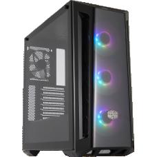 Gabinete Gamer Cooler Master Masterbox MB520, ARGB, Mid Tower, Black, MCB-B520-KGNN-RGA, S/Fonte, C/4 Fans