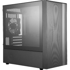 Gabinete Gamer Cooler Master MasterBox NR400, Mini Tower, Vidro Temperado, Com 2 Fan, Black, S-Fonte, MCB-NR400-KGNN-S00