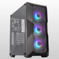 Gabinete Gamer Cooler Master Masterbox TD500 ARGB, Mid Tower, Black, MCB-D500D-KANN-S01, S/Fonte, C/4 Fans