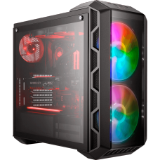 Gabinete Gamer Cooler Master Mastercase H500 ARGB, Mid Tower, Com 3 Fans, Black, S-Fonte, MCM-H500-IGNN-S01