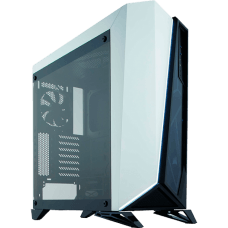 Gabinete Gamer Corsair Carbide Spec-Omega, Mid Tower, Com 2 Fans, Vidro Temperado, Black-White, S-Fonte, CC-9011119-WW