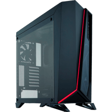 Gabinete Gamer Corsair Carbide Spec-Omega, Mid Tower, Com 2 Fans, Vidro Temperado, Black, S-Fonte, CC-9011121-WW
