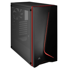 Gabinete Gamer Corsair Carbide SPEC-06, Mid Tower, Com 2 Fan, Vidro temperado, Black, S-Fonte, CC-9011144-WW