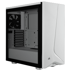 Gabinete Gamer Corsair Carbide SPEC-06, Mid Tower, Com 2 Fan, Vidro temperado, White, S-Fonte, CC-9011145-WW