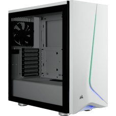 Gabinete Gamer Corsair, Carbide SPEC-06 RGB, Mid Tower, Vidro temperado, White, S/Fonte, C/2 Fans
