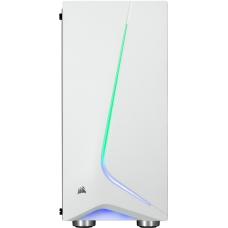Gabinete Gamer Corsair Carbide SPEC-06 RGB, Mid Tower, Com 2 Fan, Vidro temperado, White, S-Fonte, CC-9011147-WW