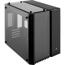 Gabinete Gamer Corsair Crystal 280x, Mini Tower, Sem Fan, Vidro Temperado, Black, Sem Fonte, CC-9011134-WW