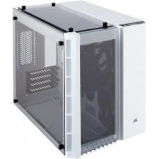 Gabinete Gamer Corsair Crystal 280x, Mini Tower, Vidro Temperado, White, S-Fonte, CC-9011136-WW