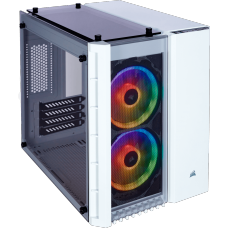 Gabinete Gamer Corsair Crystal 280x RGB, Mid Tower, Vidro Temperado, White, S-Fonte, CC-9011137-WW