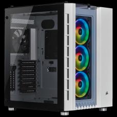 Gabinete Gamer Corsair Crystal 680x RGB, Full Tower, Vidro Temperado, 3 Fans, White, S-Fonte, CC-9011169-WW