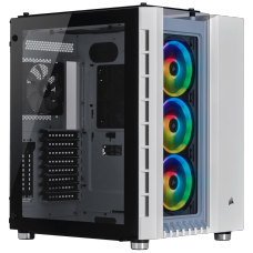 Gabinete Gamer Corsair Crystal 680x RGB, Full Tower, Vidro Temperado, White, S/Fonte, C/4 Fans