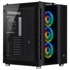 Gabinete Gamer Corsair Crystal 680x RGB, Full Tower, Vidro Temperado, 4 Fans, Black, S-Fonte, CC-9011168-WW