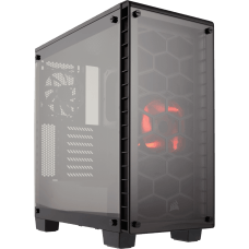 Gabinete Gamer Corsair Crystal 460X, Mid Tower, Com 2 Fans, Vidro Temperado, Black S-Fonte, CC-9011099-WW