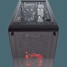 Gabinete Gamer Corsair Crystal 460X, Mid Tower, Com 2 Fans, Vidro Temperado, Black S-Fonte, CC-9011099-WW
