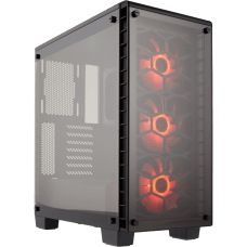 Gabinete Gamer Corsair Crystal 460X RGB, Mid Tower, Com 3 Fans, Vidro Temperado, Black, S-Fonte, CC-9011101-WW