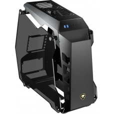 Gabinete Gamer Cougar Conquer Essence, Mini Tower, Vidro Temperado, Black, S-Fonte