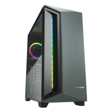 Gabinete Gamer Cougar DarkBlader X7, Mid Tower, Vidro Temperado, RGB, Midnight Green, Com 1 Fan, Sem Fonte, 385UM30.0005