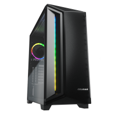 Gabinete Gamer Cougar DarkBlader X7, Mid Tower, Vidro Temperado, RGB, Translucent Black, Com 1 Fan, Sem Fonte, 385UM30.0004