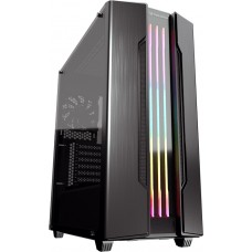 Gabinete Gamer Cougar Gemini S Iron Grey, Mid Tower, Vidro Temperado, Black, Sem Fonte, Com 1 Fan