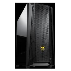 Gabinete Gamer Cougar MX660-Mesh, Mid Tower, Vidro Temperado, Black, ATX, Sem Fonte, Com 1 Fan, 385BMS0-0001