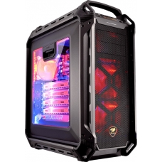 Gabinete Gamer Cougar Panzer Max, Full Tower, Com 3 Fans, Lateral em Acrílico, Black, S-Fonte