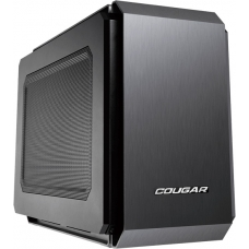 Gabinete Gamer Cougar QBX, Mini Tower, Com 1 Fans, Black, Sem Fonte