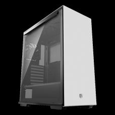 Gabinete Gamer DeepCool Macube 310, Mid Tower, Com 1 Fan, Vidro Temperado, White, S-Fonte, GS-ATX-MACUBE310-WHG0P