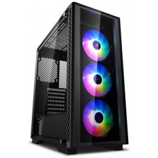 Gabinete Gamer DeepCool Matrexx 50, Mid Tower, Com 1 Fan, Vidro temperado, Black, S-Fonte, DP-ATX-MATREXX50