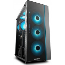 Gabinete Gamer DeepCool Matrexx 55, Mid Tower, Vidro Temperado, Black, Sem Fonte, Sem Fan, DP-ATX-MATREXX55