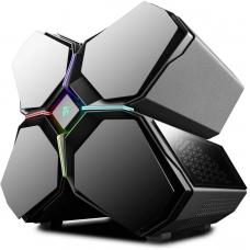 Gabinete Gamer DeepCool Quadstellar RGB, Full Tower, Vidro Temperado, Black, S-Fonte, DP-EATX-QUADSTLR