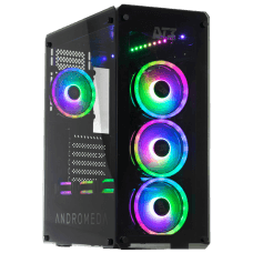 Gabinete Gamer DT3 Sports Andromeda Sync, Mid Tower, S-Fan, Vidro Temperado, Black, S-Fonte